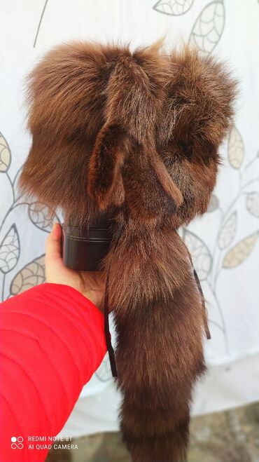 черное платье футляр в Кыргызстан: Шапка женская лиса-чернобурка