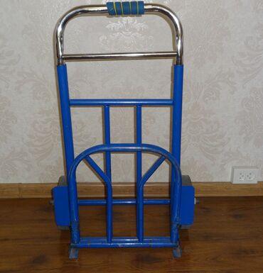 Тележка хозяйственная,ручная,нержавеющая сталь,складная,max100 кг