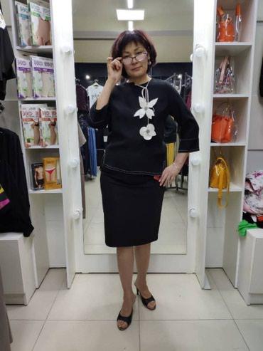 Стильная юбка на высокой посадке, размеры 46-52 в Бишкек