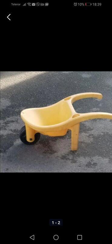 Zidar - Srbija: Dečija igračka zidarska kolica od čvrste plastike bez ikakvih tragova