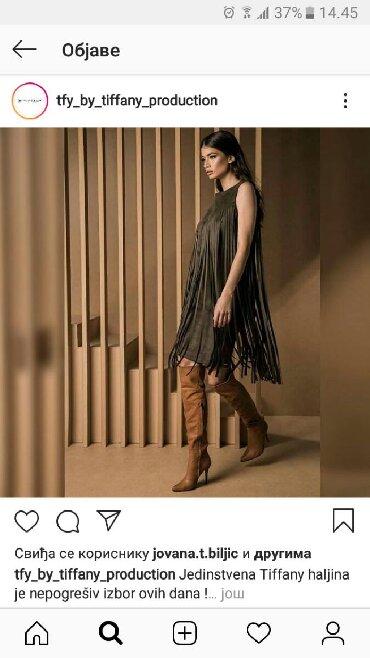 Sako crne boje - Srbija: Tifany haljina velur crna M vel sa resama .Nije nikada obučena.Mnogo