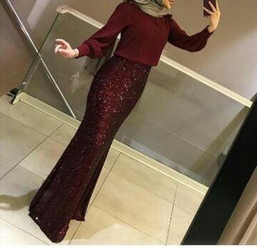 бежевое платье в пол в Кыргызстан: Платье из Турции качество хорошая