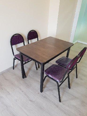 kafe ucun stol stul - Azərbaycan: Stol stul desti ölçüləri 70x110 sm Demir stol stul