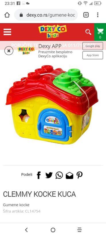 Kućica napunjena gumenim kockama