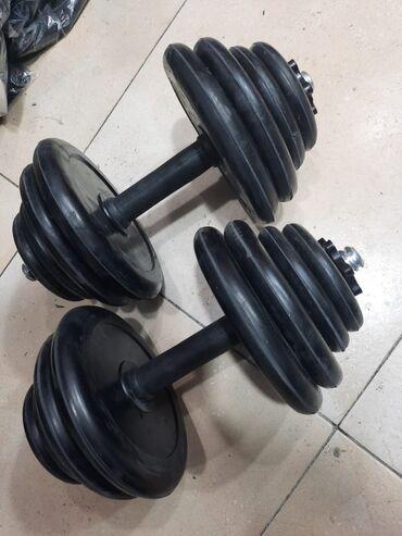 Гантели - Азербайджан: 7.5+7.5 kg = 55 AZN10 kg+10kg = 90 AZN15 kg+15kg = 115 AZN20 kg +20kg