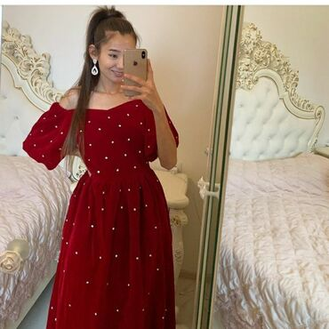 летнее платье 48 размера в Кыргызстан: Продаю платье 3шт осталась