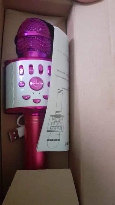 Karaoke bluetooth mikrofon sa zvucnikom i radio prijemnikom u sebi