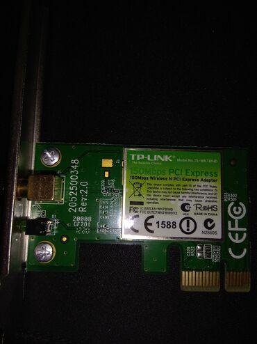 wifi data kart - Azərbaycan: TP Link Wiralles 150mbpsPersonalni komputerler ucun Wifi Adapterkart