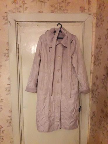 Пальто новое,серого цвета,размер 50 длинное,утепленное в Бишкек