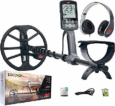 """Minelab Equinox 600 Multi-IQ Metal Detector with EQX 11"""" Double D"""