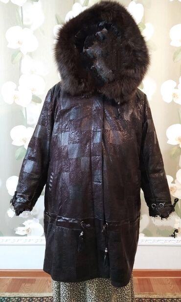 Куртка коричневого цвета в отличном состоянииЭкокожа с лазерной