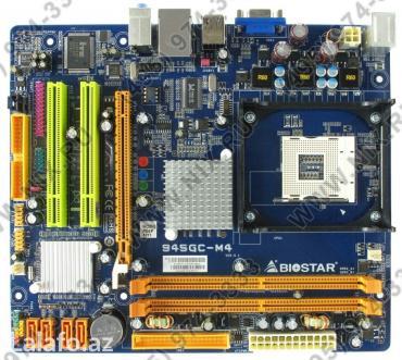 Bakı şəhərində Tәzәdi.Qutuda.10 eded var.Ana plata BIOSTAR 945GC-M4 socket 478 DDR2 P