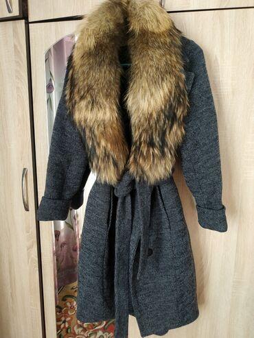 (Натуралка)Новый! Пальто с натуральным мехом!!! Качество 100% (очень т