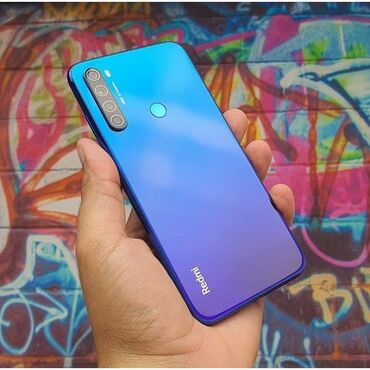сканер баркода в Кыргызстан: Б/у Xiaomi Redmi Note 8 32 ГБ Синий