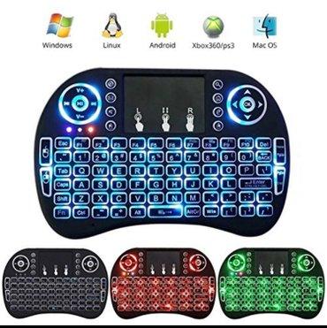 Bežična punjiva mini tastatura sa osvetljenjem bežična qwerty tastatur - Beograd