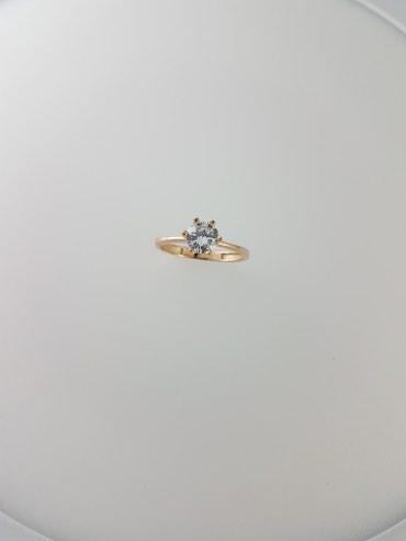 Кольцо из красного золота 585проба Вставка циркон Размер кольца 18.0 в Бишкек