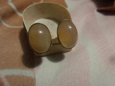 Запонки серебро 875 проба Советские камень натуральный сердолик