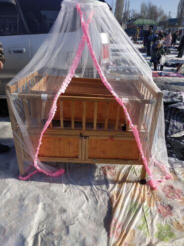 Детский мир - Кара-Балта: Продаю кроватку с люлькой