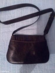 Bez-torbica - Srbija: Tamno braon kozna torbica nova bezostecenja prelepa Akcija 500