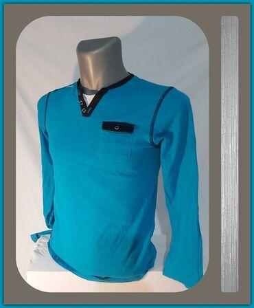 Polo majice - Srbija: 6.2. Muška S majica-26.9.✼Plava muška majica, dugačak