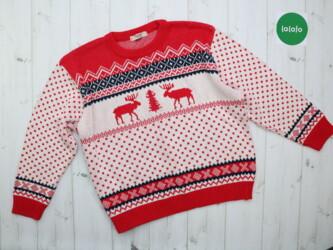 Женский свитер с оленями Barons, р. L    Длина: 56 см Рукав: 47 см Шир