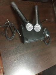 Bakı şəhərində Karaoke mikrofonu (2 deneli) yaxşı sealenmesi var karaokr oxumaq vr