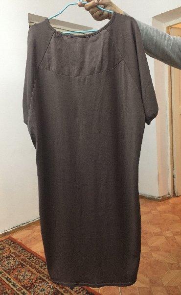 Новое удобное платье с ремешком на талии, 52-54 размер- 500 сом