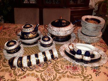 Ev və bağ - Azərbaycan: 6 neferlik Kobalt çay ve yemek desti.Ideal veziytetdedi