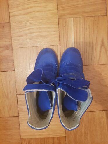 Cipele na platformu - Srbija: Plave patike na platformu br.40 nosene samo jednom,kao nove