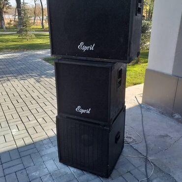 профессиональный микшерный пульт в Кыргызстан: Прадаю аппаратуру не китай, 6 колонок и пульт(три в одном)