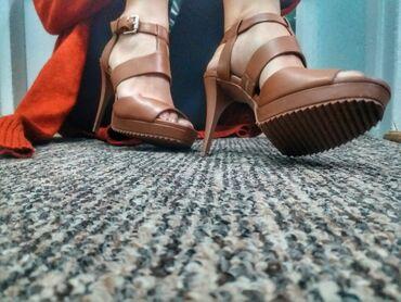 5737 oglasa   ŽENSKA OBUĆA: Novo* Prelepe, Donna Karan sandalice, prirodna koža, broj 39, visina