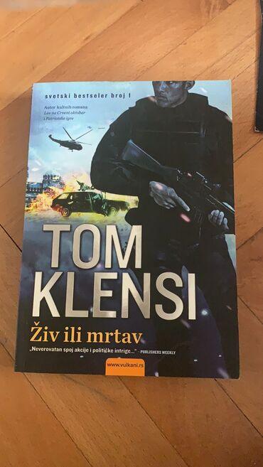 Knjige, časopisi, CD i DVD | Kikinda: Nova knjiga Tom Klensi Ziv ili Mrtav Vulkan