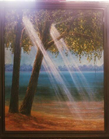 Декор для дома - Кара-Балта: Картина масленная, 1994 года, размер 80*98 Цена договорная