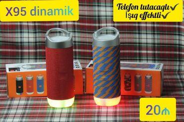 Dinamiklər və musiqi mərkəzləri - Azərbaycan: X95 dinamik Telefon tutacaqlı  İşıq effektli