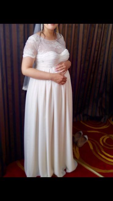 свадебные платья для беременных в Кыргызстан: Свадебное платье для беременных. Сшито на заказ у Aikin Aripova. Разме