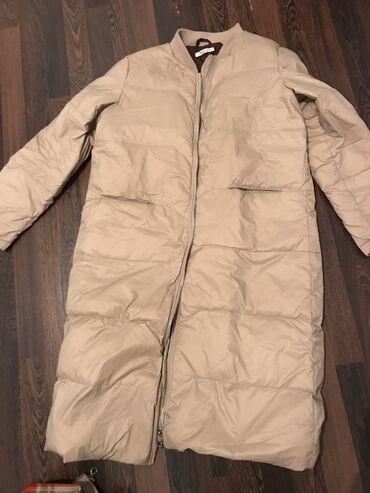 Куртки - Бежевый - Бишкек: Легкий, но ооочень теплый пуховик, производство Италия, покупала за