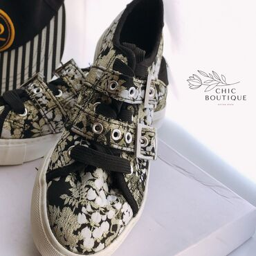 фирменная детская обувь в Азербайджан: Ажурные кеды от New LookМатериал: хлопокЦвет: белый, черный, с