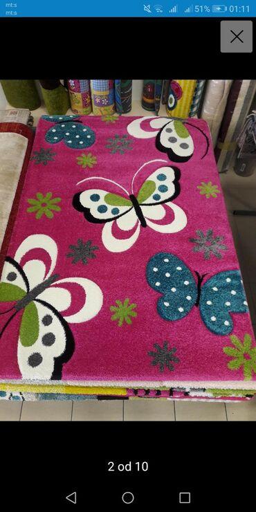 Deciji tepih prelep 140x200Odlicno ocuvan deciji tepih, prelepih i