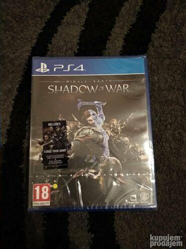 PS4 (Sony Playstation 4) | Srbija: PS4 Shadow of war. Igrica je nova u celofanu