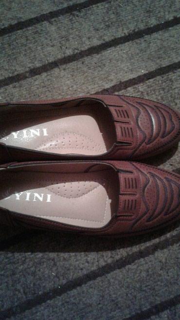 Туфли женские 38 размер коричневые  на 37 размер в Бишкек