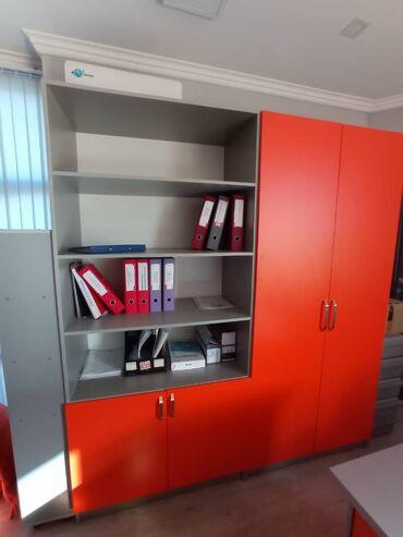 Мебель - Кыргызстан: Продаю стильную офисную мебель.Состояние отличное!  Модульный шкаф(2 ш