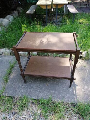 Barska stolica - Srbija: Barski stocic sa tockicima, ocuvan, stabilan dimenzije 85x47 visina