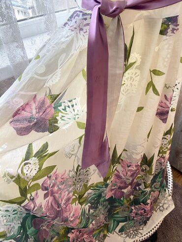 женское платье турция в Кыргызстан: Летнее, легкое, нежное, женское платье, Турция, цвета айвори, лён