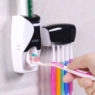 зубной техник бишкек в Кыргызстан: Автоматический Дозатор для зубной пасты с держателем для щеток!!! ВНИМ