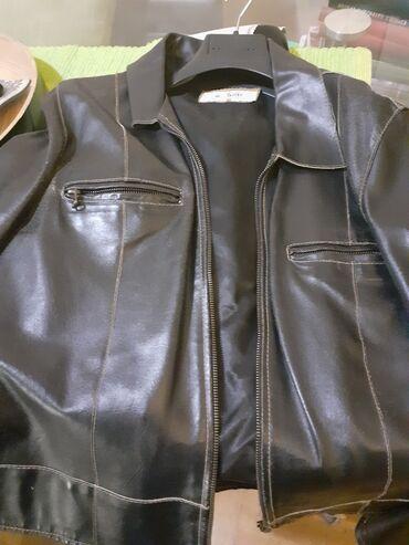 Crna kozna sportska jakna novo i crni blejzer rucni