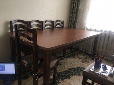 шредеры 12 14 на колесиках в Кыргызстан: Продаю большой, широкий стол с 12 стульями. Кыргыз мебель. По длине