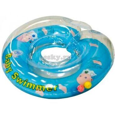 ванночки стульчики для купания в Азербайджан: Надувной круг на шею для купания Baby Swimmer 0-36 мес. (6-36 кг) с