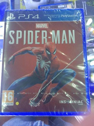 Bakı şəhərində Ps4 ucun Spider man oyunu tam bagli upokovkada orginal