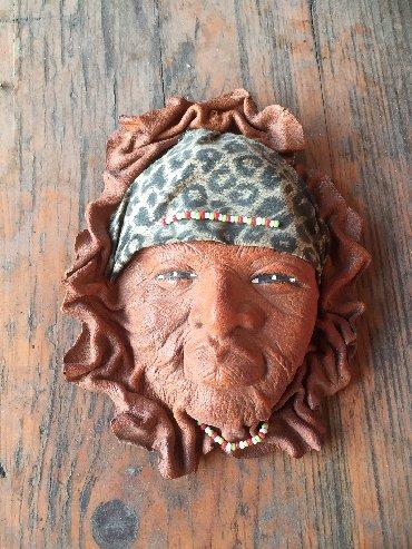 Ostalo | Crvenka: Maska ručni rad od koze