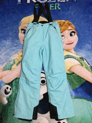 Ski pantalone,vel.152.Bez oštećenja.Tirkiz.dužina 96cmunutrašnja